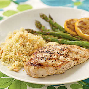 <p>Lemon-Grilled Chicken Breasts</p>