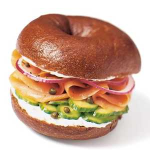 Smoked Salmon Bagel Recipe | MyRecipes.com