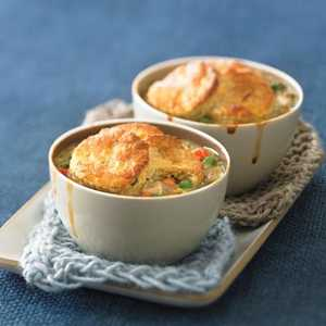 Biscuit-topped Chicken Potpies Recipe