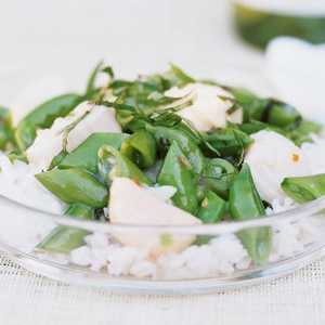 Scallops With Asparagus And Sugar Snap Peas Recipes — Dishmaps