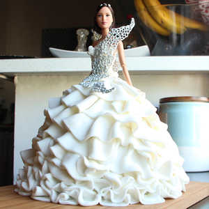 How To Make 194 Katniss Everdeen S Wedding Dress Cake Video