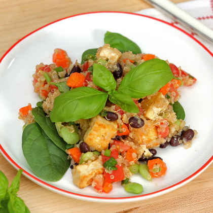 Black Bean-Quinoa Salad