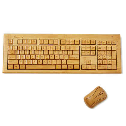 Bamboo Wireless Keyboard and Mouse