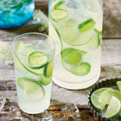 Cucumber-Lime Infused Gin and Tonic