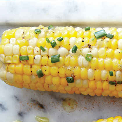 Corn on the Cob with Lemon-Chive Butter