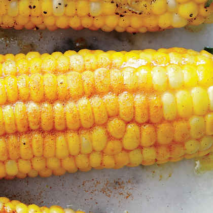 Corn on the Cob with Lemon-Curry Spice Butter