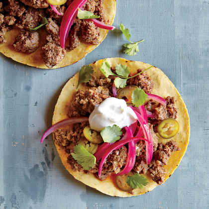 Beef Tostadas with Quick-Pickled Onions