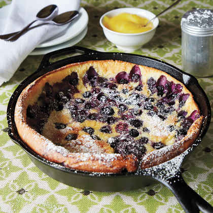 Blueberry Dutch Baby with Lemon Curd