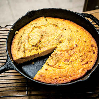 Buttermilk Spoonbread with Spaghetti Squash