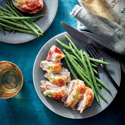 Cheesy Chicken Cutlets with Ham and Jam image