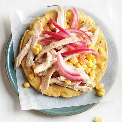 Chicken and Corn Two Ways Tostada