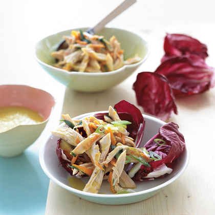 Chicken Salad in Radicchio Cups