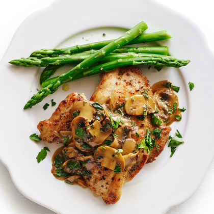 Chicken Scaloppine with Mushrooms