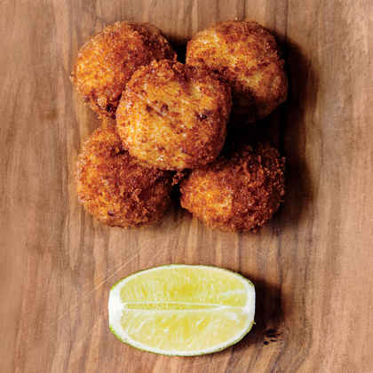 Fish Chowder Croquettes with Rum Aïoli