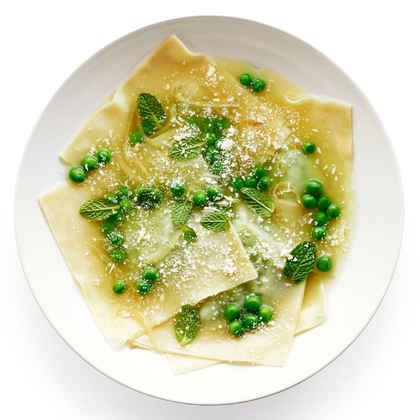 Pea and Fresh Mint Ravioli