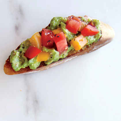 Garlic, Avocado, and Tomato Toast