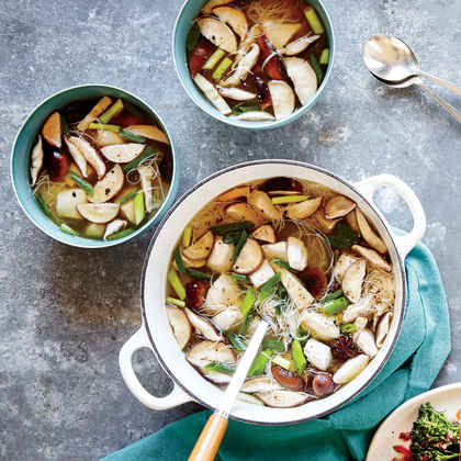 Ginger Chicken, Shiitake, and Scallion Soup