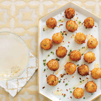 Goat Cheese Poppers with Honey