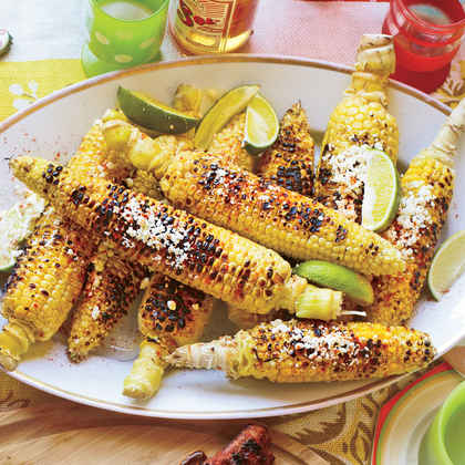 Grilled Corn with Cheese and Lime