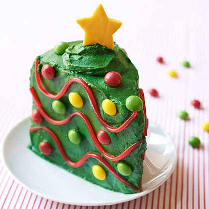 Christmas Tree Cake Wedges