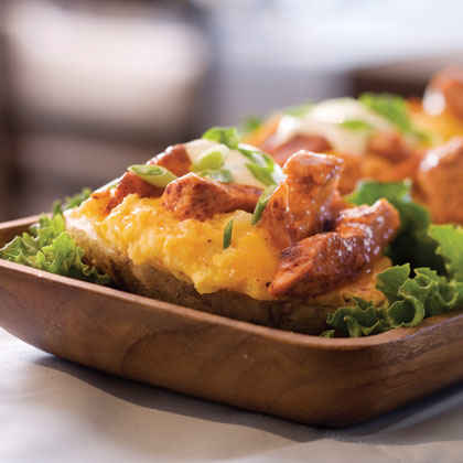 Buffalo Chicken Twice-Baked Potatoes