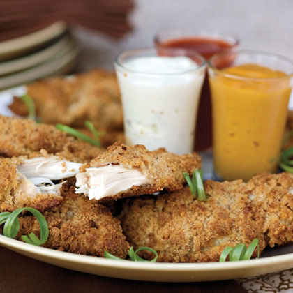 """Fried"" Pecan Chicken Fingers"