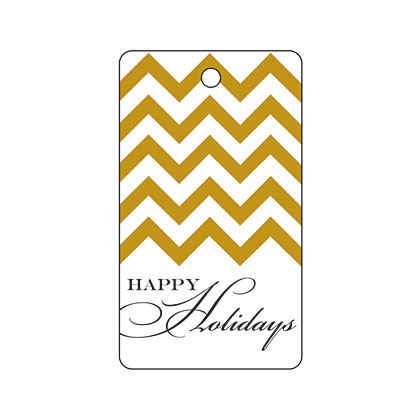 Holiday Gold Chevron