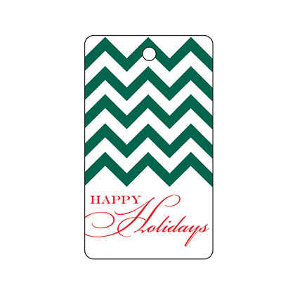 Holiday Green Chevron