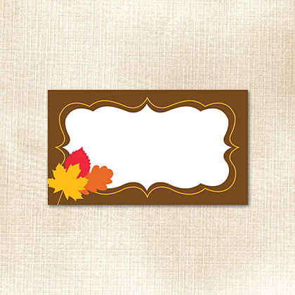 Fall Frame with Leaves