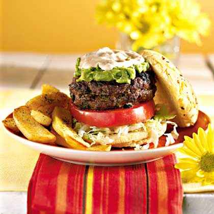 Stuffed Border Burgers