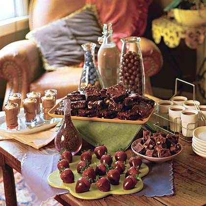 Table of Chocolate Treats
