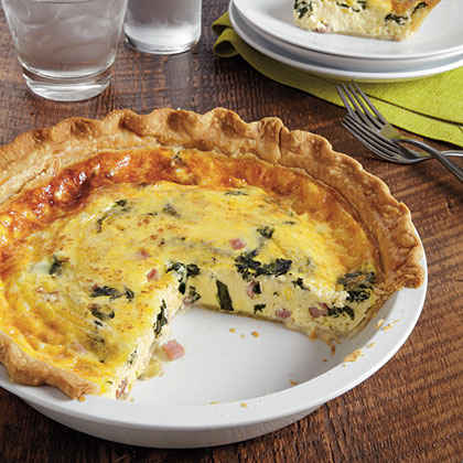 Ham, Swiss and Spinach Quiche