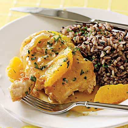 Chicken Breasts Sautéed with Orange