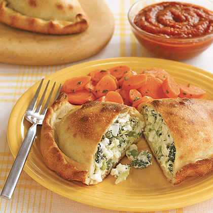 Broccoli and Double Cheese Calzones