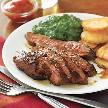Healthy steak recipes on the stove