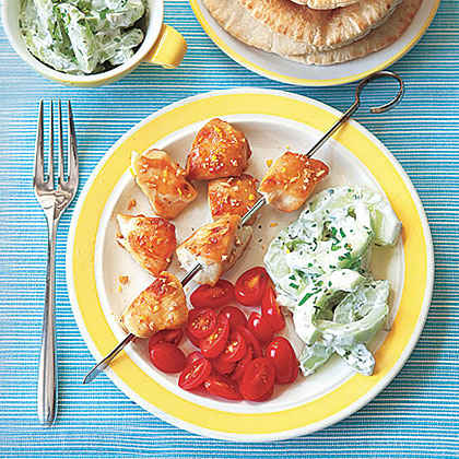 Broiled Greek Chicken with Pitas