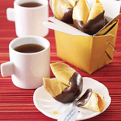 Chocolate-Dipped Fortune Cookies