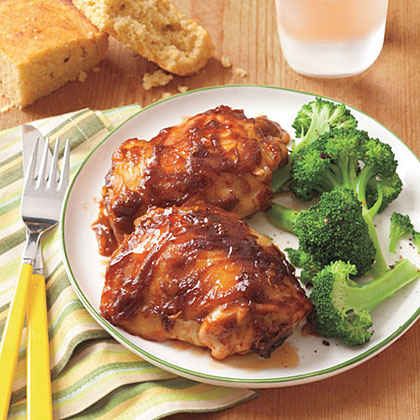 Chicken with Peanut-Butter Barbecue Sauce