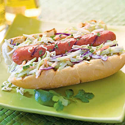 Asian Slaw Dogs