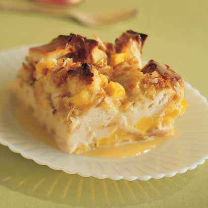 mango coconut bread pudding bread pudding goes tropical with this
