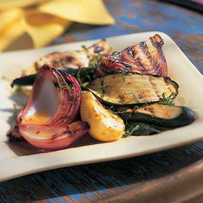Grilled Zucchini-and-Summer Squash Salad