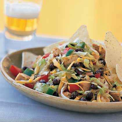 Black Bean-Taco Salad with Lime Vinaigrette