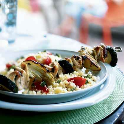 Mediterranean Chicken and Vegetable Kebabs