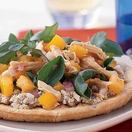 Walnut Pizza with Arugula and Yellow Tomatoes