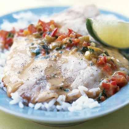 sauce over broiled tilapia with thai fisherman s soup with tilapia and ...