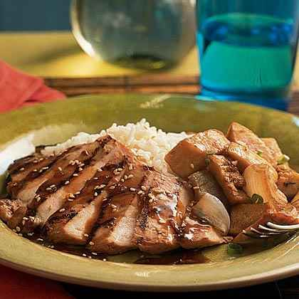 Grilled Chicken with Whiskey-Ginger Marinade