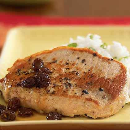 Pork with Port Wine and Raisin Sauce