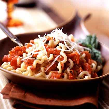 Fusilli with Roasted Tomato Sauce