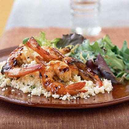 Caribbean: Shrimp on Sugarcane with Rum Glaze