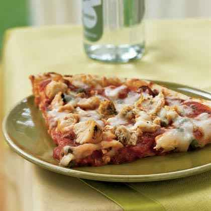 Chicken Puttanesca Pizza